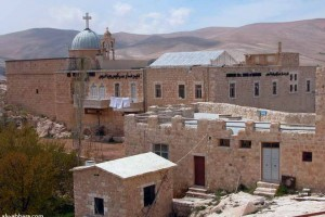 Upper portion of St. Sergius is shown here. Massive walls overlook the valley below. The complex was taken over by Obama supported Islamic rebels last year.