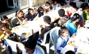 First 2105 Christmas meal for refugee children from Iraq and Syria has already been held in Lebanon