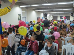 A balloon contest at an event in Iraq