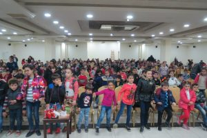 Iraqi Christian refugee children celebrate Christmas in Amman, Jordan